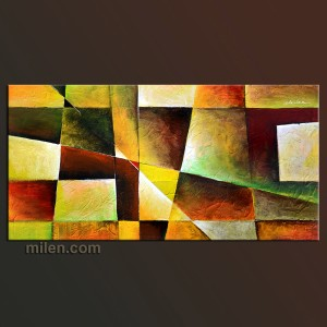 Abstract Sunset painting geometric figures