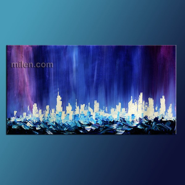 abstract wave cityscape
