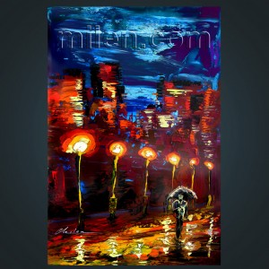 Insomnia - urban night canvas print