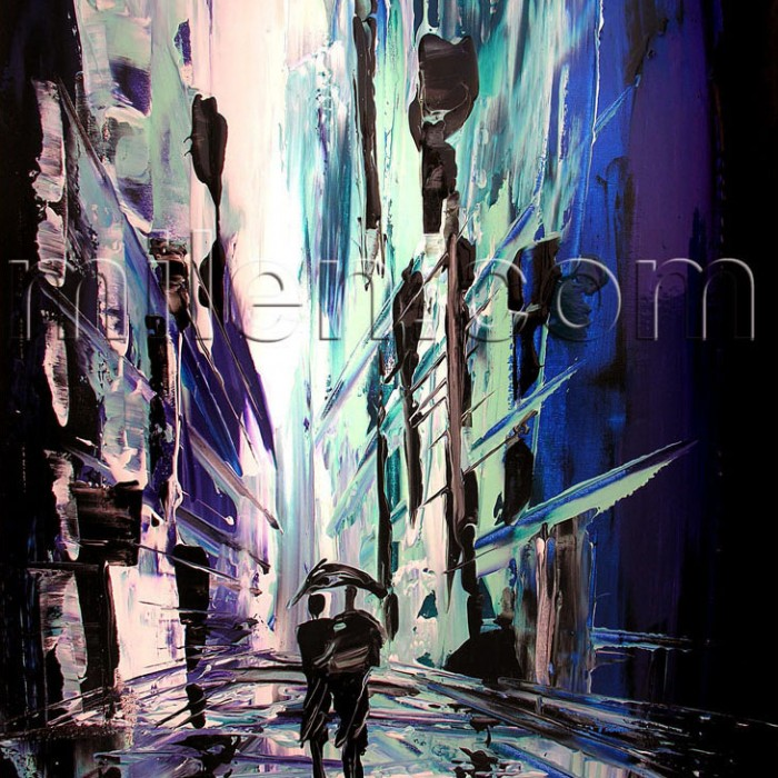 abstract cityscape abstract painting