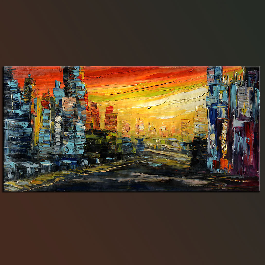 city sunset  u2013 modern abstract painting original  u2013 abstract paintings  amazing original abstract