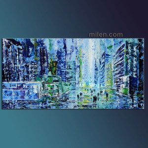 Blue Evening - blue-painting for sale