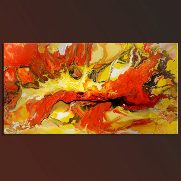 Red Dragon original abstract painting oil on canvas