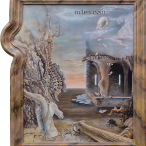 surrealism oil painting