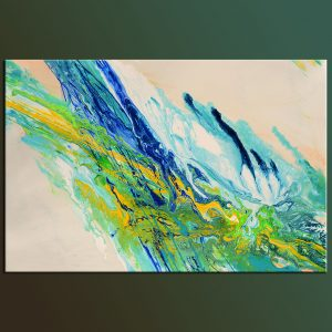 Emerald beach original abstract painting acrylic on canvas