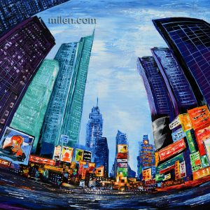 Times Square cityscape painting