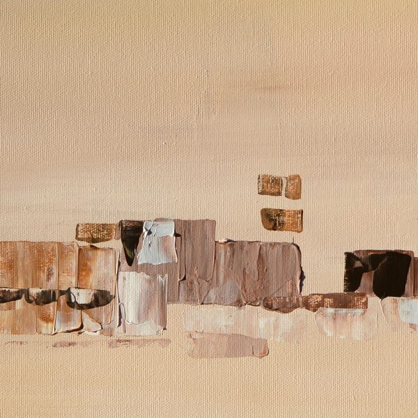 Daylight - beige abstract painting