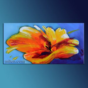 Orange Poppy painting
