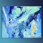 Blue Laguna - abstract fluid painting