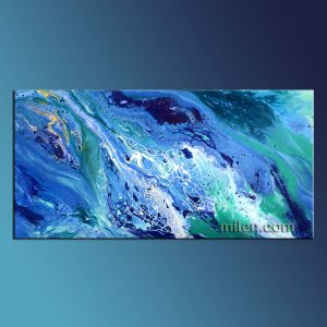 blue fluid abstract liquid painting