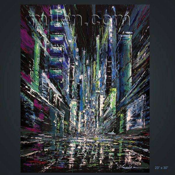New York speed - print on canvas from original painting