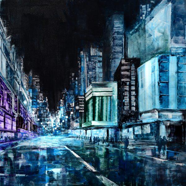 Blue Night - New York night cityscape