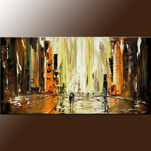 wet square cityscape