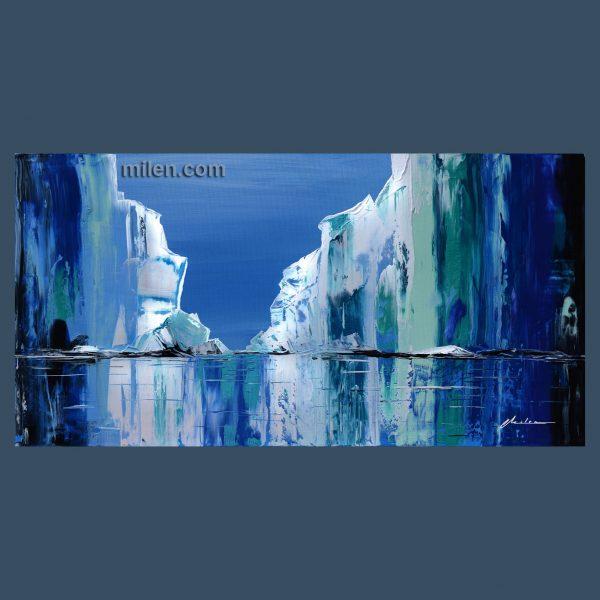 glacier painting blue aqua teal turquoise