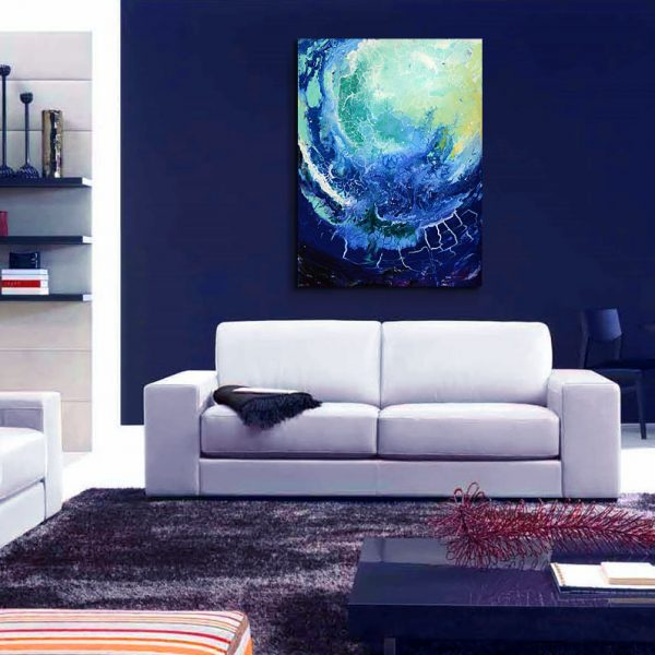 Space Diving - cosmic fluid painting