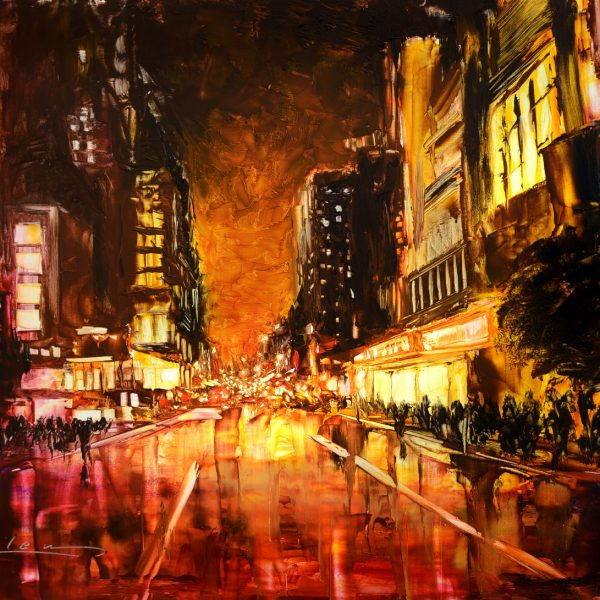 After Sunset - red cityscape