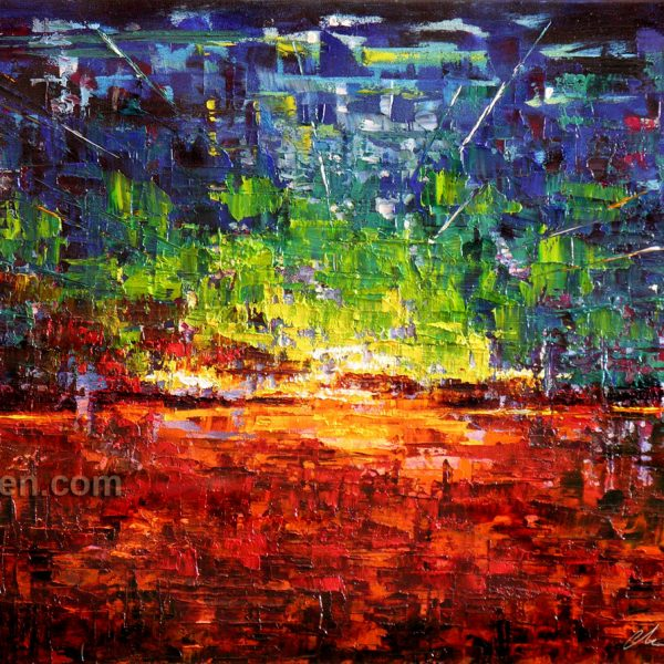 Run The World - abstract painting