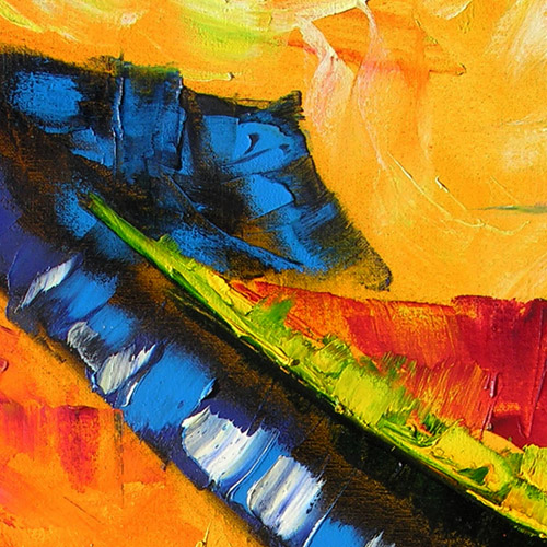 stairway to heaven abstract painting , oil paint on canvas impressionist abstract artwork modern painting