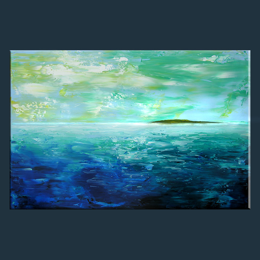 Bermuda Blue Abstract Painting