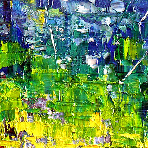 Detail of Run The World abstract painting, oil on canvas impressionist palette knife textured painting abstract artwork