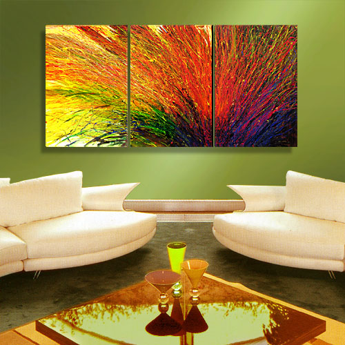 SYMPHONY - dripping abstract painting
