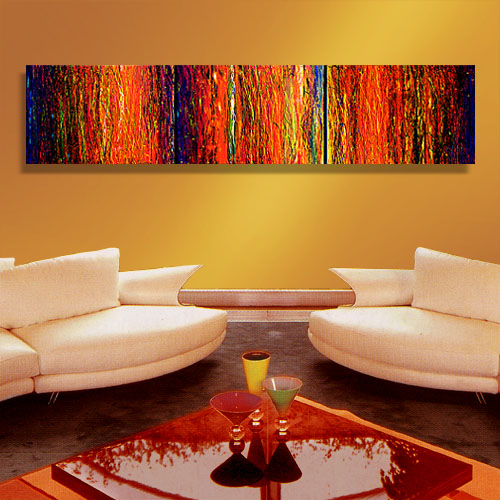 Dance In The Dark - abstract painting dripping paint texture abstract artwork red painting modern art