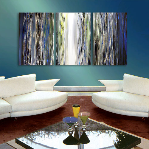 Steel Reflections abstract painting