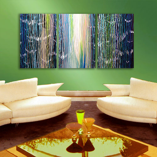 abstract waterfall - painting