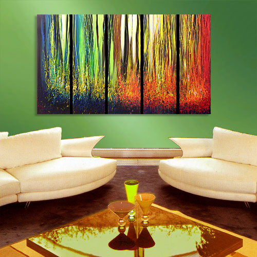 Season of Blossom - abstract painting dripping paint texture abstract artwork red painting modern art original amazing painting