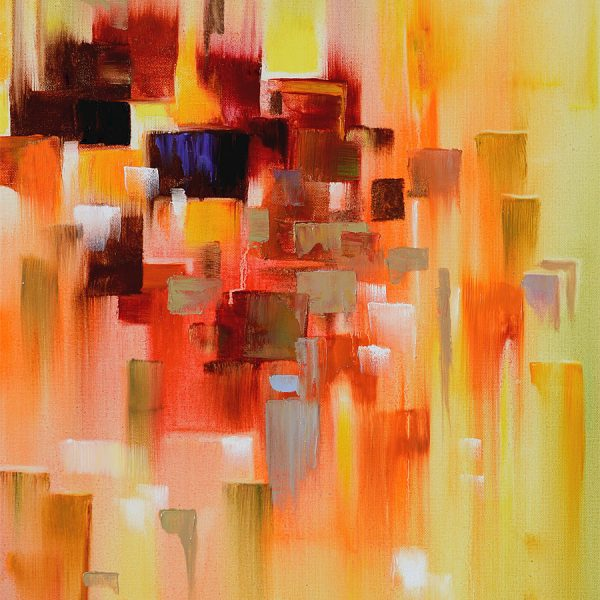 Abstract city - abstract skyline abstract cityscape painting