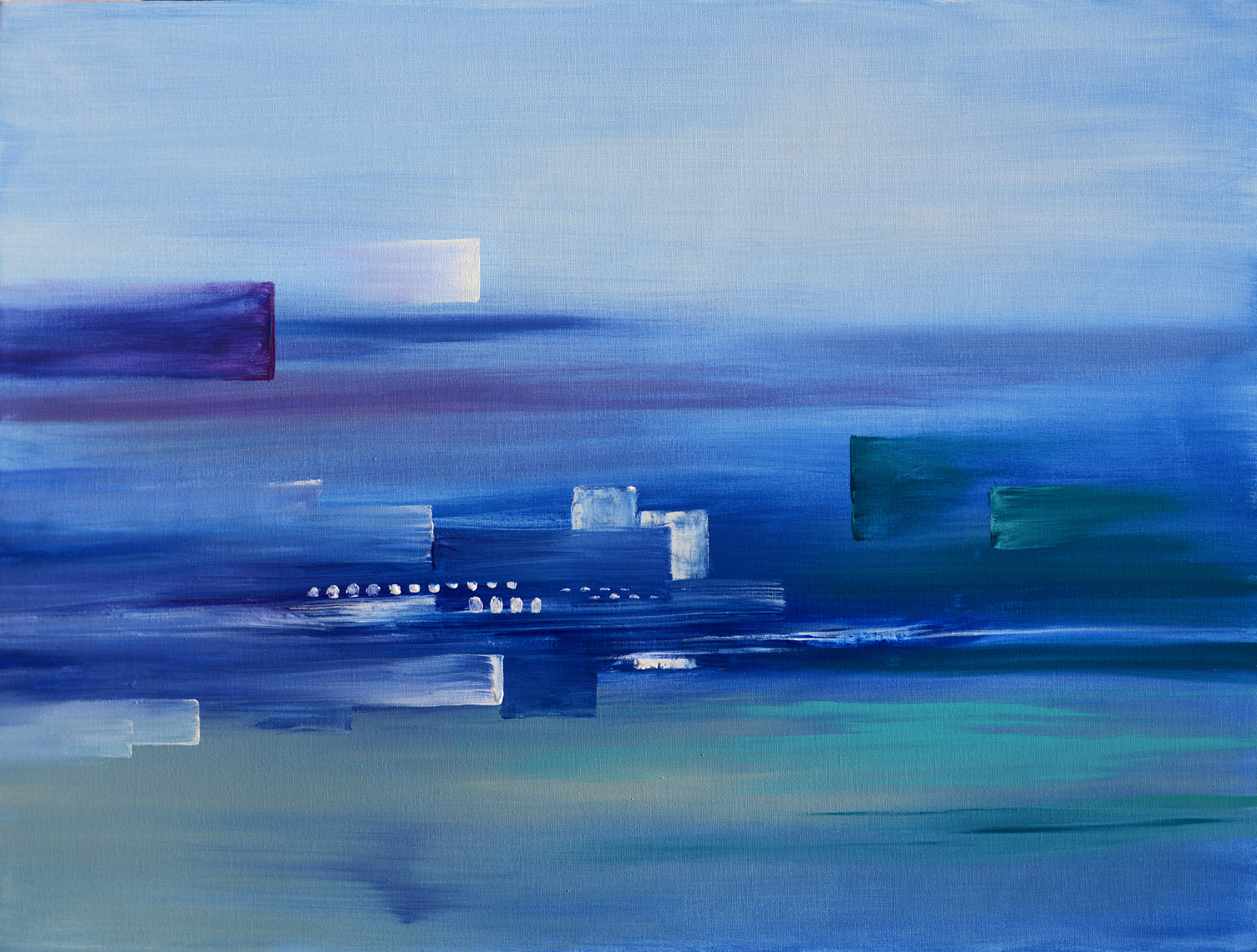 Acrylic Painting Abstract City