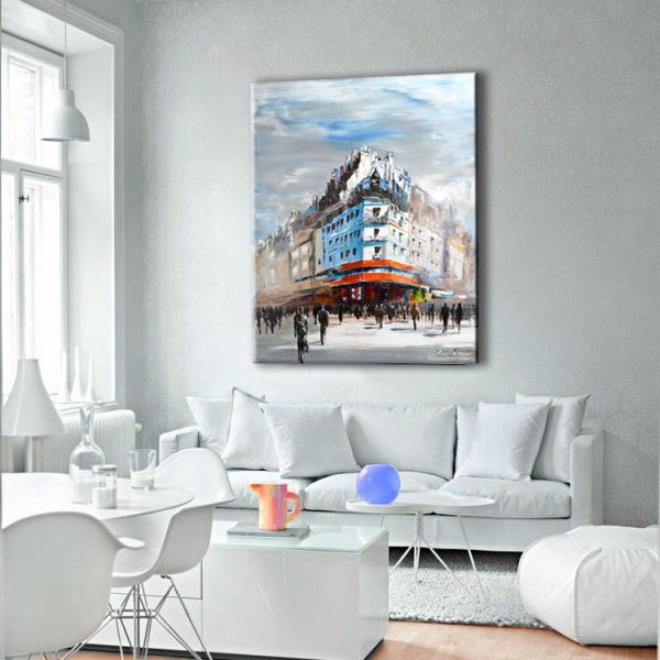 sunny painting afternoon sunny cityscape painting sunny square art