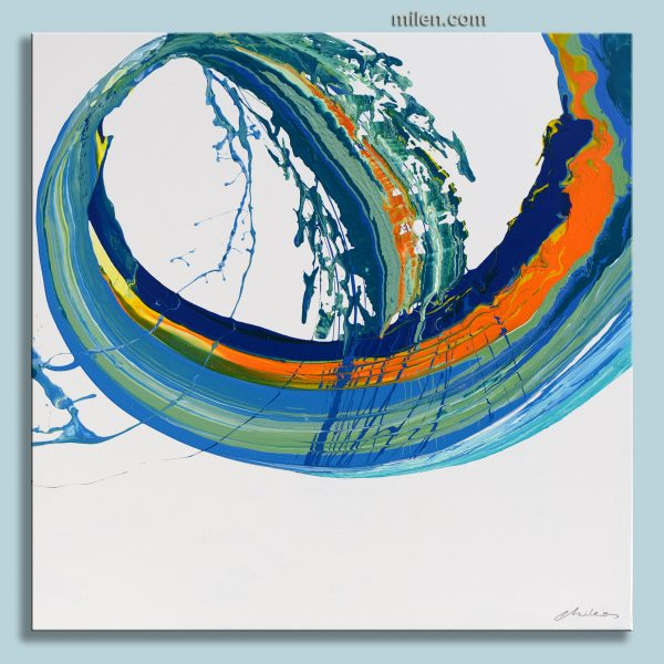 skyfall abstract painting spin painting pouring technique art