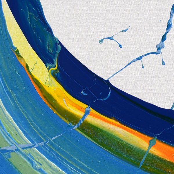 skyfall abstract painting spin painting pouring art